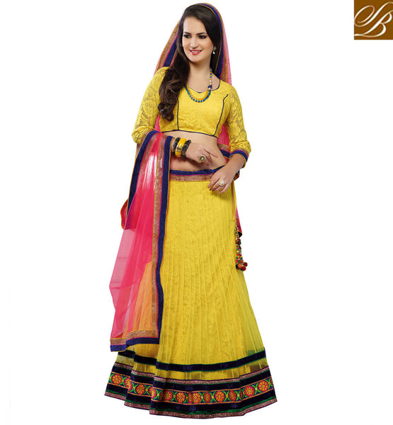 CHANIYA CHOLI ONLINE WITH NET DUPATTA AT REASONABLE PRICE INDIA