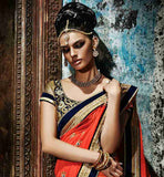 EYE-CATCHING WEDDING WEAR SAREE WITH HEAVY WORK ON LOWER PART