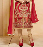 SHERWANI PATTERN DRESS CHURIDAR SALWAR & DUPATTA