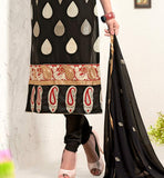 designer black kurti with churdar salwar and dupatta