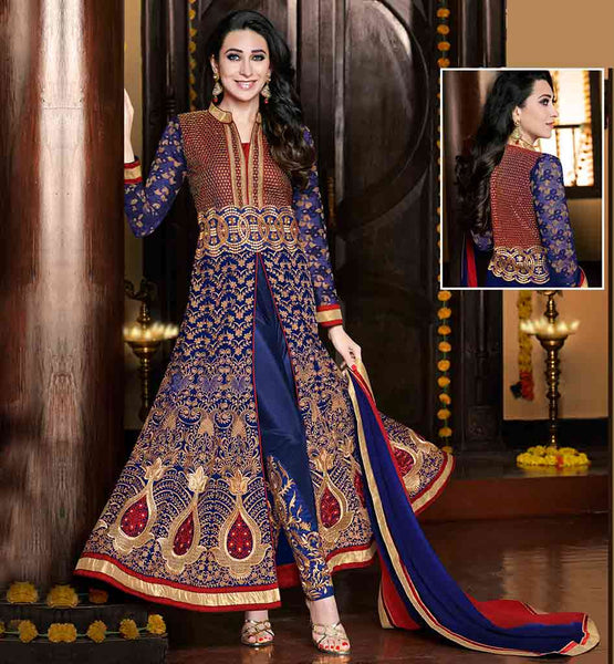 BUY BOLLYWOOD DRESS FOR LADIES AT BEST PRICE  STUNNING DIVA KARISHMA KAPOOR AWESOME CUT STYLE ANARKALI