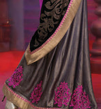 EXCITING PINK & GREY OCCASION  WEAR SAREE RTALP11001