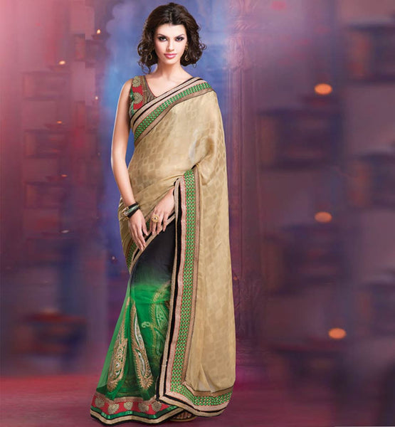 GORGEOUS GEORGETTE & NET OCCASION  WEAR SAREE RTALP11002