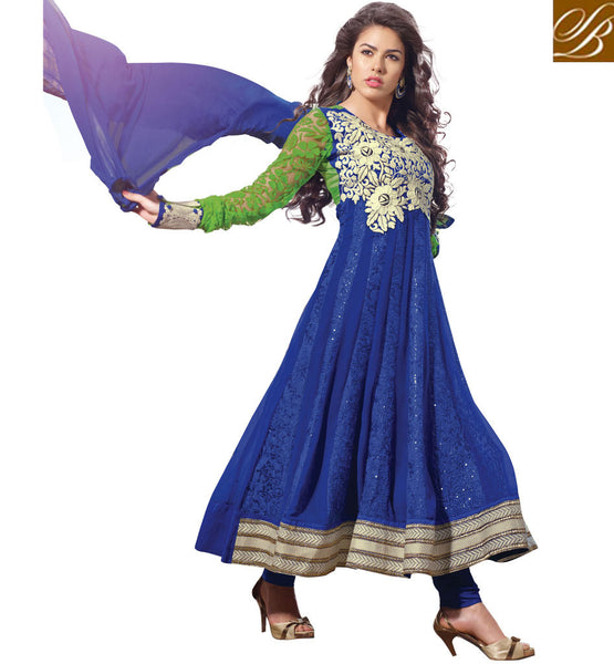 BEWITCHING BLUE ANARKALI SALWAR SUIT RTSN11004 - stylishbazaar - online shopping for anarkali suits, online shopping for anarkali dress, online shopping of anarkali suits, online shopping anarkali dress, online shopping of anarkali dress
