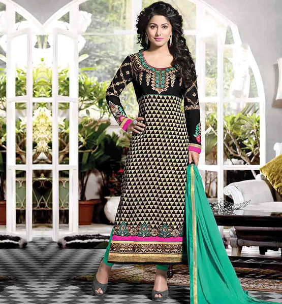 HEENA KHAN CELEBRITY INDIAN DRESSES BOLLYWOOD SALWAR KAMEEZ ONLINE SHOPPING CUTE SALWAR KAMEEZ STYLISH PARTY DRESSES COLLECTION