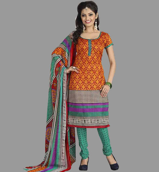 TRENDY OFFICE WEAR PRINTED SILK SALWAR KAMEEZ SUITS WITH DUPATTA