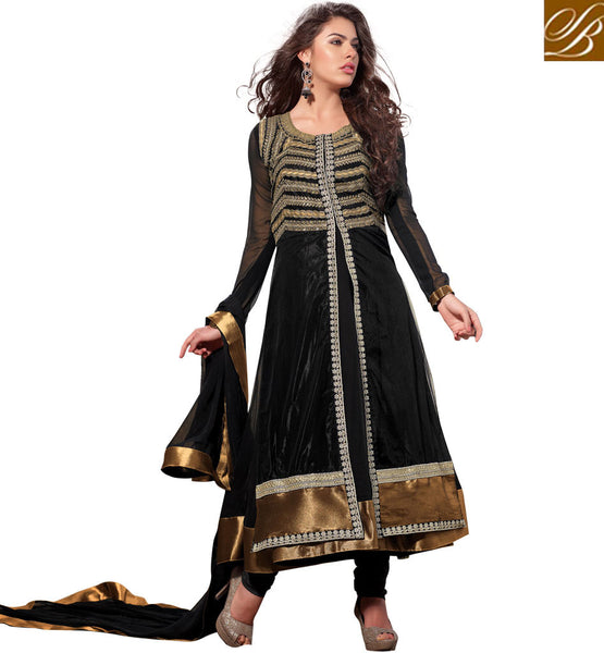 IRRESISTIBLE BLACK ANARKALI SALWAR SUIT RTSN11005 - stylishbazaar -  buy Anarkali Dress online, anarkali dress online shopping in india, buy anarkali suits online, anarkali dress designs, latest designer anarkali suits