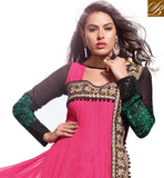 NAUGHTY PINK NET ANARKALI SALWAR SUIT RTSN11006  -stylishbazaar - online shopping for salwar suits, online shopping for salwar kameez dress, online shopping of salwar kameez, online shopping salwar suits, online shopping of salwar kameez suuits