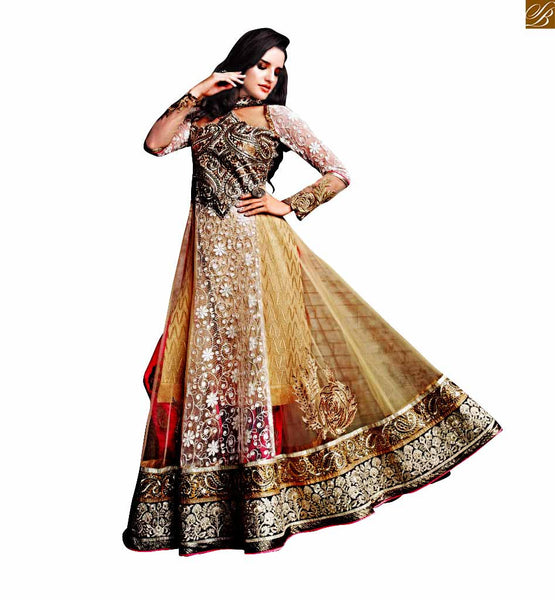 ZOYA SAPPHIRE WEDDING WEAR ANARKALI SALWAR KAMEEZ SUIT DUPATTA 11006 STYLISH BAZAAR STORE