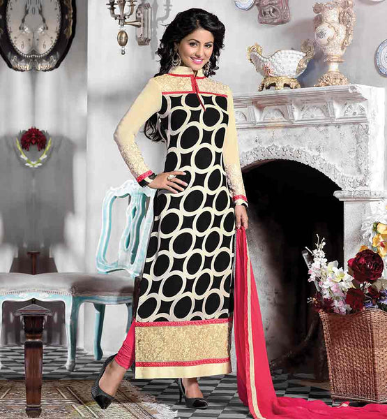 HEENA KHAN ACTRESS IN SALWAR SUIT LATEST BOLLYWOOD DRESS DESIGNS DESIGNER INDIAN PARTY WEAR SHALWAR KAMEEZ DESIGN 2015