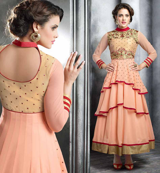 SHOP FROCK STYLE EMBROIDERED KAMEEZ WITH DUPATTA  DRESS TO IMPRESS GEORGETTE ANARKALI  PARTY WEAR SALWAR KAMEEZ
