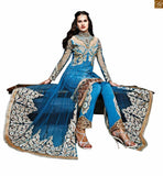 ZOYA SAPPHIRE 2 IN 1 ANARKALI SALWAR KAMEEZ SUIT PANT STYLE BOTTOM 11007 BY STYLISH BAZAAR