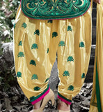 lovely cotton kurti with patiala salwar