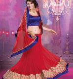 MAGNIFICENT MAROON WEDDING WEAR LEHENGA SAREE RTALP11009