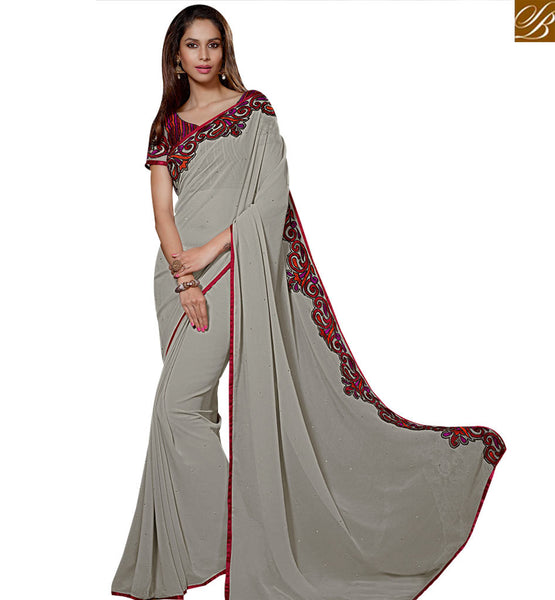 STYLISH BAZAAR BEAUTEOUS INDIAN ONLINE DESIGNER SAREE FOR PARTIES RTSPO11009