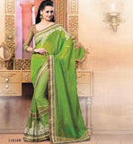GREEN PARTY WEAR SAREE VDRIW11010B