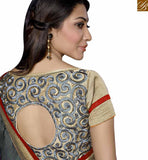 FROM THE HOUSE OF STYLISH BAZAAR EXQUISITE DESIGNER SARI BLOUSE DESIGN FOR RECEPTIONS AND PARTIES RTSPO11012'