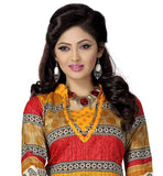 STYLISH SILK PRINTED KURTI WITH SALWAR AND DUPATTA