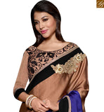 STYLISH BAZAAR PRESENTS MARVELOUS EMBROIDERED HALF AND HALF SARI ONLINE SHOPPING INDIA RTSPO11018