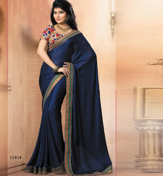 BLUE PARTY WEAR SAREE VDRIW11018