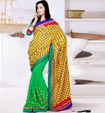 NEW TREND PARTY WEAR SAREES ONLINE EXCELLENT PRINT WITH EMBROIDERY