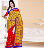 2015 DESIGN ONLINE PARTY WEAR SAREES PRINTED PALLU DUPION BLOUSE