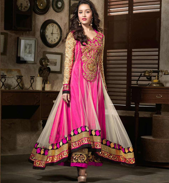SHRADDHA KAPOOR NET ANARKALI SUIT ANMOL KHWAAB 1102B STYLISHBAZAAR NEW COLORS