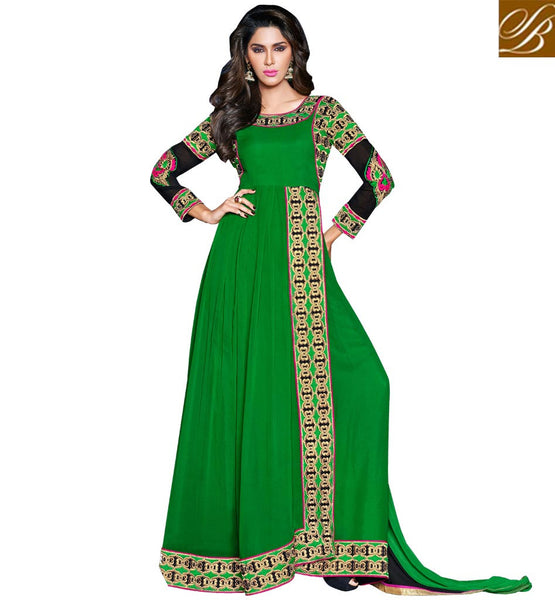 Green Party wear salwar suit