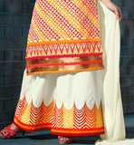 cotton Plazzo salwar with embroidery Off-White