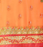 BROUGHT TO YOU BY ORANGE DESIGNER GOERGETTE KARACHI STYLE STRAIGHT SALWAR KAMEEZ ANZAI1104