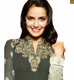FROM THE HOUSE OF STUYLISH BAZAAR STARLET SHAZAHN PADAMSEE IN GREY PAKISTANI DRESS ANZA1105