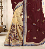 CLASSIC-COMBINATION-OF-COLORS-AND-SMART-EMBROIDERY-PATCH-WORK-ON-THE-SARI-ENGAGEMENT-SAREES-AND-DESIGNER-JACKET-TYPE-BLOUSE-
