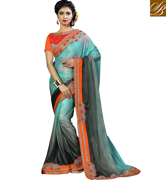 FROM THE HOUSE OF STYLISH BAZAAR DELIGHTFUL OCCASION WEAR DESIGNER SARI VDKET1105