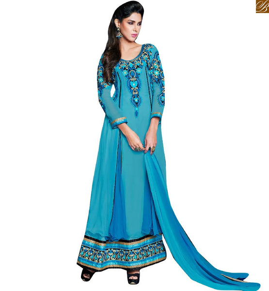 PURE GEORGETTE ANARKALI FROCK DESIGNS COLLECTION OF LONG LENGTH BOUTIQUE DRESSES ONLINE SHOPPING INDIA AT BEST PRICE