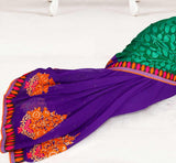 Superb self designing on the pallu and rich embroidery on the petticoat or skirt portion