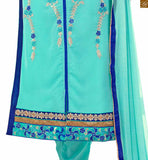 STYLISH BAZAAR INTRODUCES COMMENDABLE BLUE SALWAAR KAMEEZ DECKED WITH SILVER EMBROIDERY VDADI1108