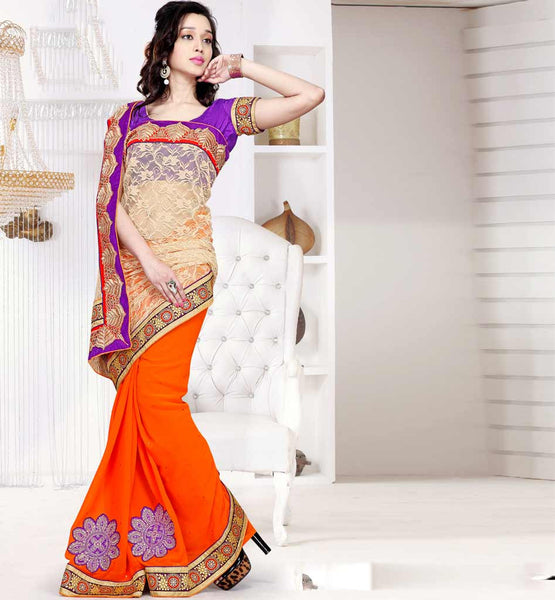 RETRO BOLLYWOOD HEROINE STYLE PARTY WEAR SAREES ONLINE IN INDIA
