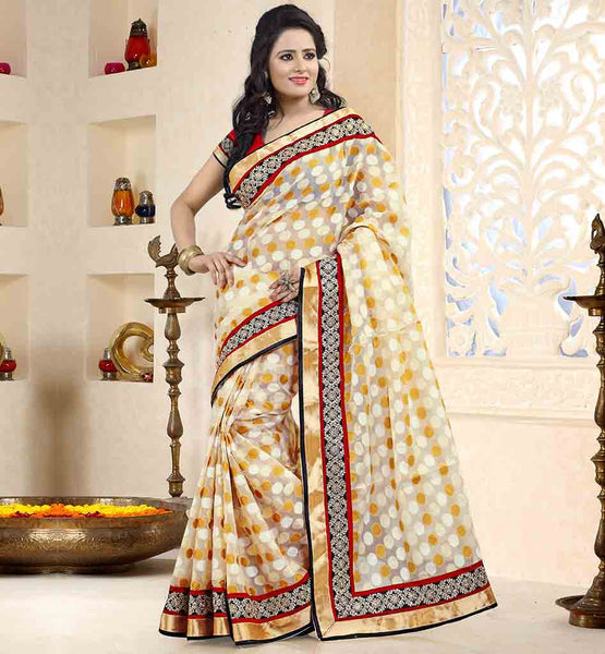 LATEST-SAREE-DRAPE-DESIGNS-WITH-STYLISH-BLOUSES-COLLECTION-RARE-TISSUE-FABRIC-OFF-WHITE-MATERIAL-SARI-WITH-PURE-DUPION-MATERIAL-RED-BLOUSE
