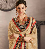 BLACK COTTON DRESS MATERIAL WITH CREAM CHIFFON DUPATTA RTRAJ1109A