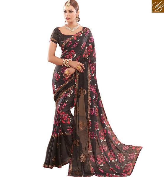FROM THE HOUSE OF STYLISH BAZAAR FASCINATING SAREE DESIGN FOR SPECIAL FUNCTIONS RTBTQ110A