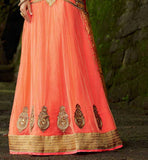 LIGHT ORANGE LEHENGA SARI KIMSA110