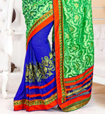 new catalogue saree with print and embroidery