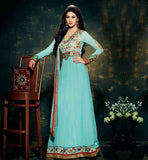 AMAYRA DASTUR LIGHT GREEN ANARKALI DRESS