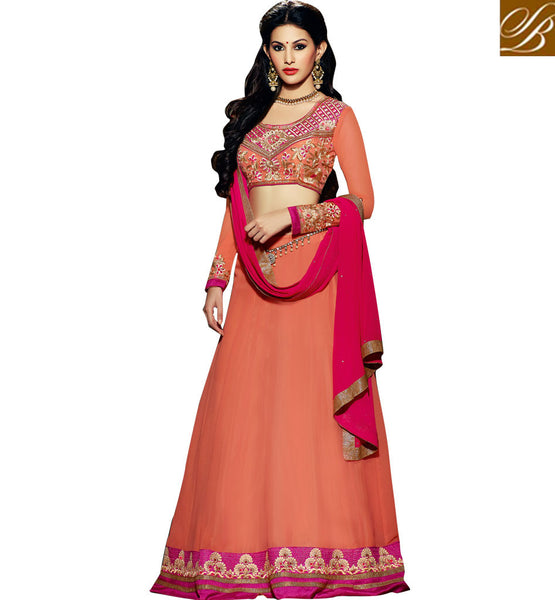 AMYRA DASTUR TRADITIONAL GHAGRA CHOLI OR PARTY WEAR ANARKALI SUIT
