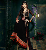 AMAYRA DASTUR BLACK PARTY WEAR ANARKALI DRESS
