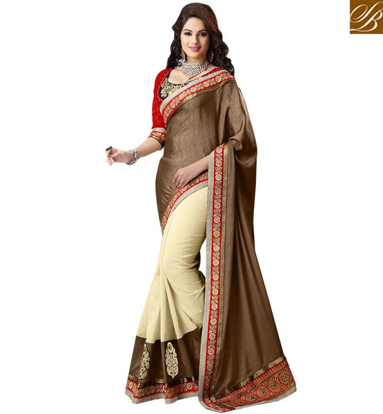 A STYLISH BAZAAR PRESENTATION ALLURING SARI FOR SPECIAL EVENTS RTMDV1111