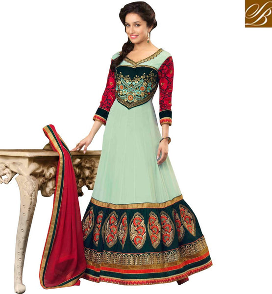 shraddha kapoor new fashion floor lenght anarkali dress