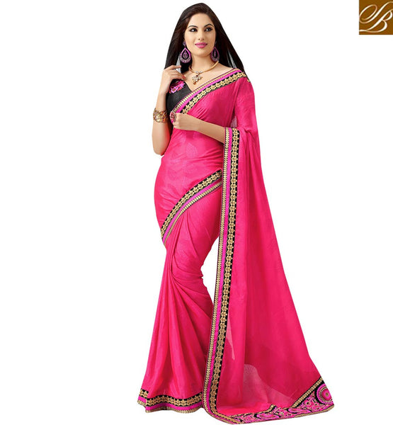 SHOP ONLINE STYLISHBAZAAR RECO JACQUARD PARTY WEAR SAREE WITH ART SILK BLOUSE