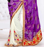 rich broad embroidered lace on the pallu border