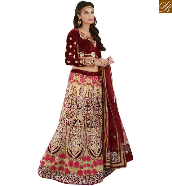 STYLISH BAZAAR ROYAL INDIAN DESIGNER LEHENGA CHOLI DESIGN ONLINE SHOPPING RTCAN1117